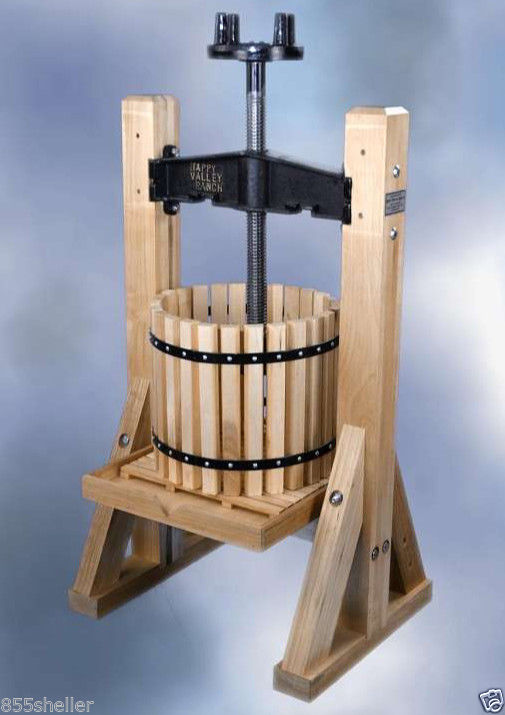 Happy valley ranch homesteader wine cider press grapes for Home wine press