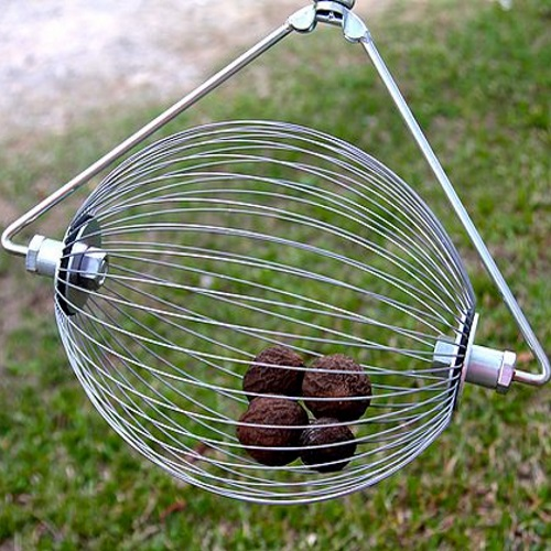 Holt's Nut Wizard for Black Walnuts; also available for pecans, sweet gum balls, acorns and more