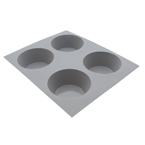 de Buyer Silicone Mold Elastomoule 4 Portion Muffins