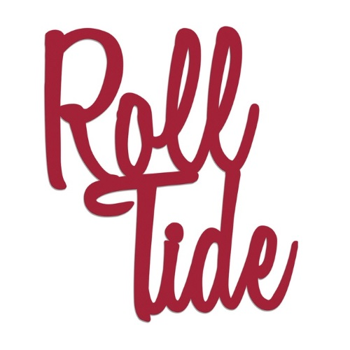 University of Alabama Crimson Roll Tide Script Wall Hanging